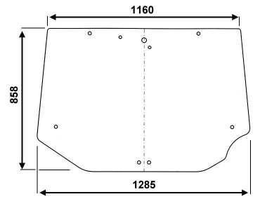 heckscheibe f r case new holland steyr 284 947 a2 ebay. Black Bedroom Furniture Sets. Home Design Ideas