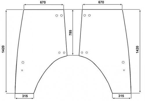 t rscheibe links passend f r fendt farmer favorit gt vario ebay. Black Bedroom Furniture Sets. Home Design Ideas